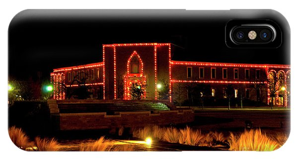 IPhone Case featuring the photograph Carol Of Lights At Science Building by Mae Wertz