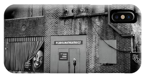 Carolina Theatre In Black And White IPhone Case