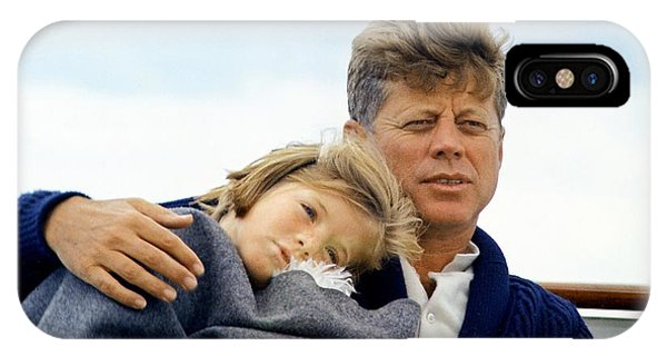 Caroline Kennedy And President Kennedy IPhone Case