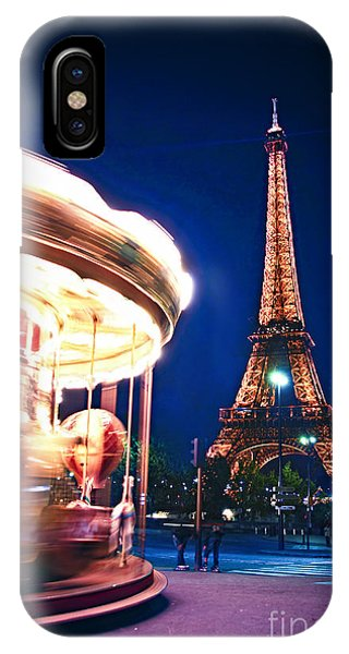 Travel iPhone Case - Carousel And Eiffel Tower by Elena Elisseeva