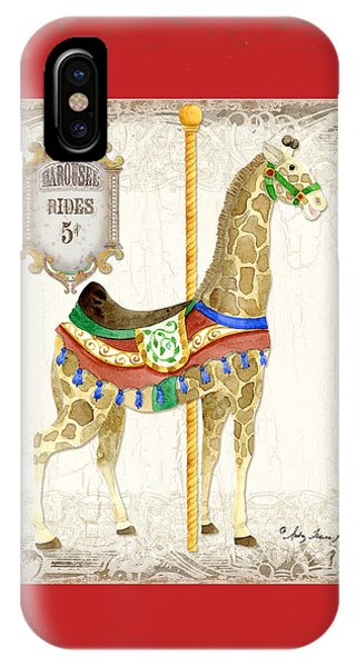 Carousel iPhone Case - Carousel Dreams - Giraffe by Audrey Jeanne Roberts