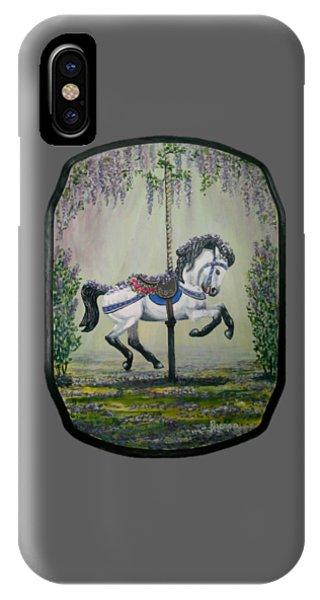 Carousel Garden The White Buckskin Stallion IPhone Case