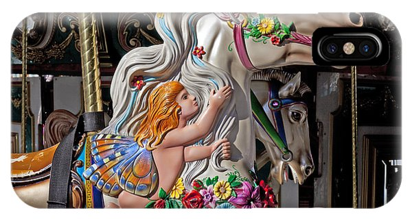 Carousel iPhone Case - Carousel Horse And Angel by Garry Gay