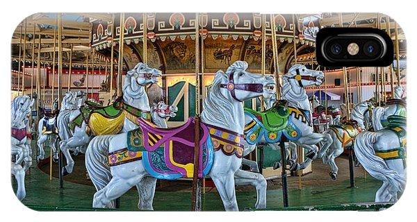 Funfair iPhone Case - Carousel Horses by Allen Beatty