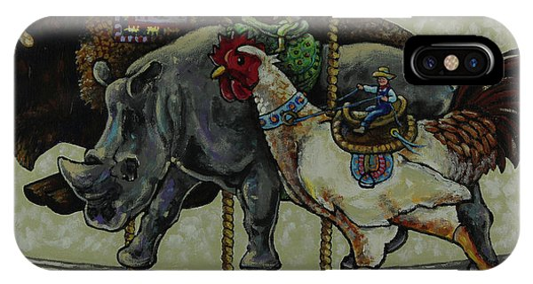 iPhone Case - Carousel Kids 1 by Rich Travis