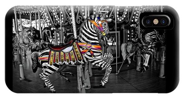 Carousel Zebra Series 2222 IPhone Case