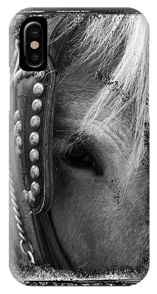 Carriage Horse B And W IPhone Case