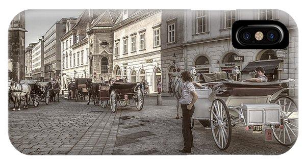Carriages Back To Stephanplatz IPhone Case