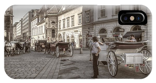 Carriages Back To Stephanplatz IPhone Case