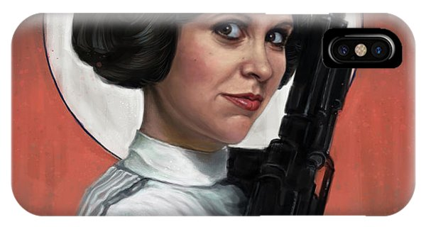 Tribute iPhone Case - Carrie Fisher by Andre Koekemoer