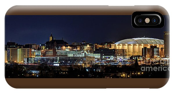 Carrier Dome And Syracuse Skyline Panoramic View IPhone Case