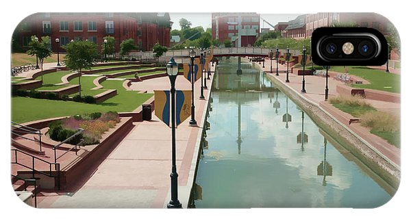 Carroll Creek Park In Frederick Maryland With Watercolor Effect IPhone Case
