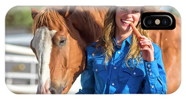 Carrots,cowgirls And Horses  IPhone Case