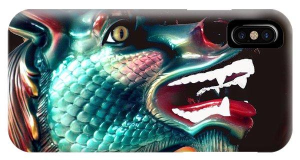 Carrousel Dragon Horse IPhone Case