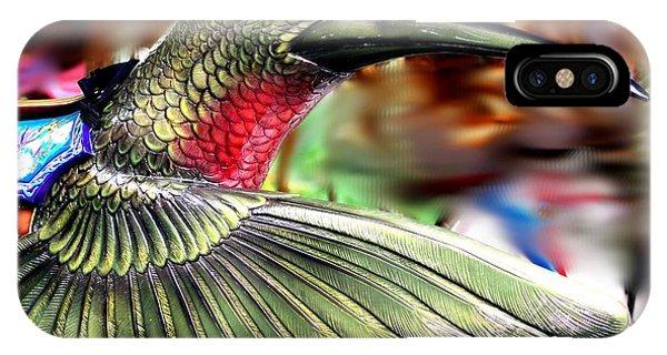 Carrousel Hummingbird IPhone Case