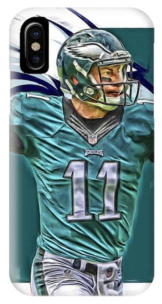 Ball iPhone Case - Carson Wentz Philadelphia Eagles Oil Art by Joe Hamilton