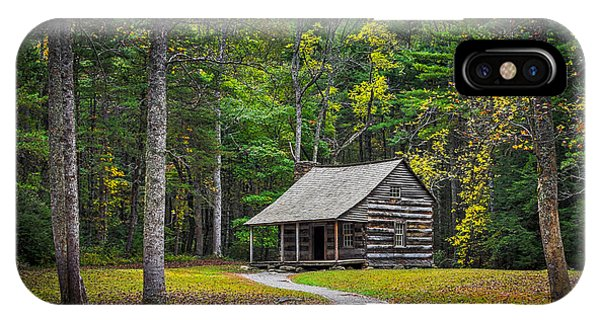Carter Shields Cabin In Cades Cove Tn Great Smoky Mountains Landscape IPhone Case