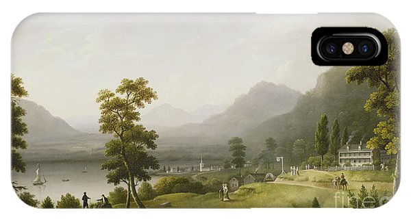 Hill iPhone Case - Carter's Tavern At The Head Of Lake George by Francis Guy