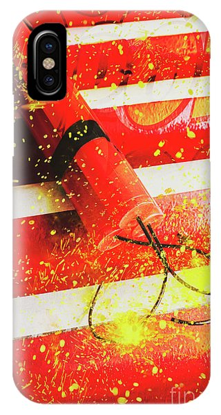 Damage iPhone Case - Cartoon Bomb by Jorgo Photography - Wall Art Gallery