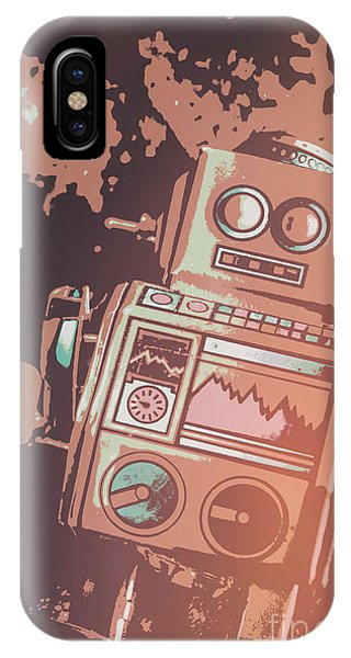 1950s iPhone Case - Cartoon Cyborg Robot by Jorgo Photography - Wall Art Gallery