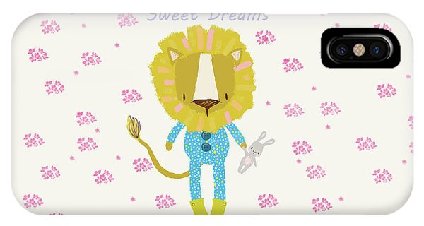 Cartoon Sweet Dreams Lion IPhone Case