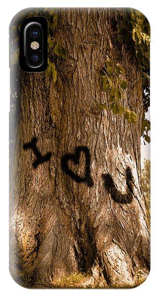 Carve I Love You In That Big White Oak IPhone Case