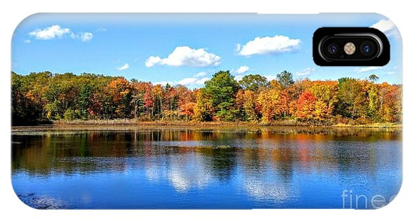 Carver Pond Bridgewater Ma IPhone Case