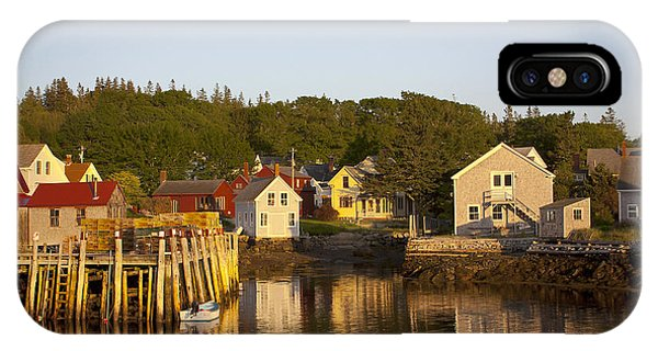 Carvers Harbor At Sunset, Vinahaven, Maine IPhone Case