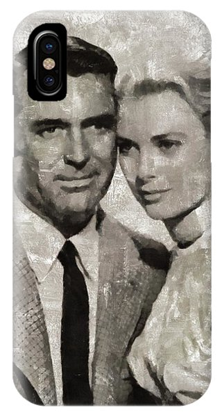 Cary Grant And Grace Kelly, Hollywood Legends IPhone Case