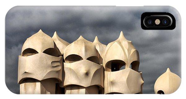 Casa Mila Masks IPhone Case