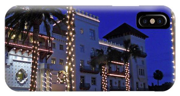 Casa Monica Inn Night Of Lights IPhone Case