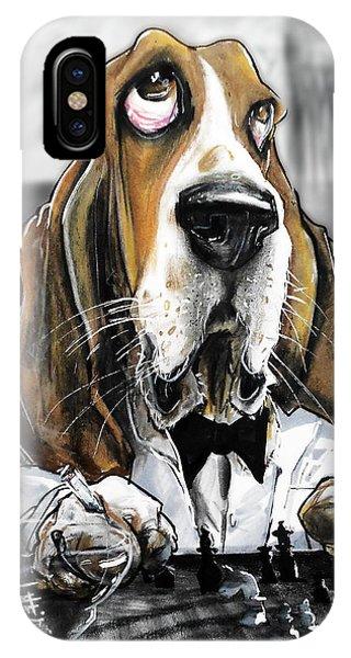 Casablanca Basset Hound Caricature Art Print IPhone Case