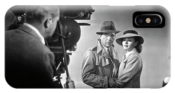 Leading Actress iPhone Case - Casablanca Director's Cut  1942 by Daniel Hagerman