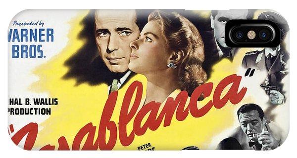 Again iPhone Case - Casablanca Movie Lobby Poster 1942 by Daniel Hagerman