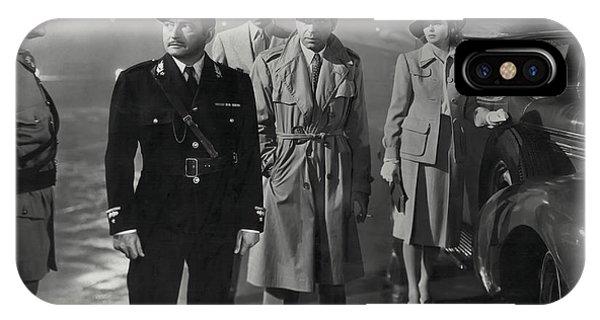 Again iPhone Case - Casablanca Movie Still  1942 by Daniel Hagerman