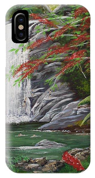 Cascada Tropical IPhone Case
