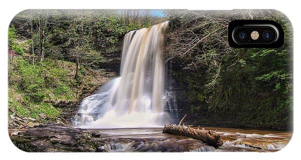 Cascade Falls In Spring IPhone Case