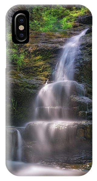 New England Fall Foliage iPhone Case - Cascade Falls, Saco, Maine by Rick Berk
