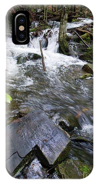 Cascade Falls Stream, Farmington, Maine  -30329 IPhone Case