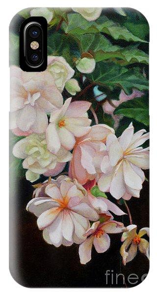 Cascade Of Begonias  IPhone Case