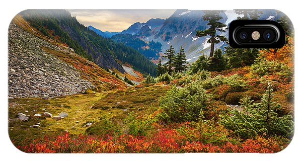 Mountainous iPhone Case - Cascade Pass Fall by Inge Johnsson