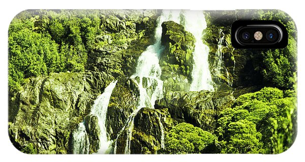 River Flow iPhone Case - Cascading Falls by Jorgo Photography - Wall Art Gallery