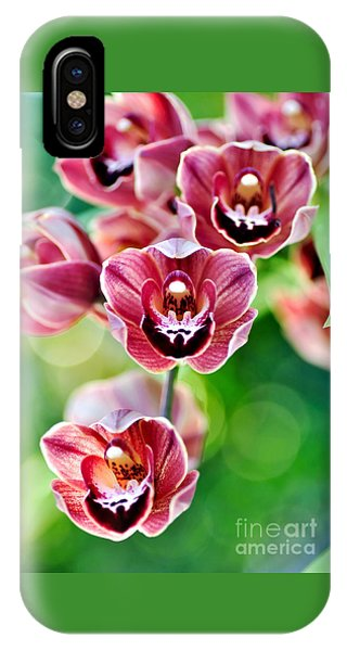 Cascading Miniature Orchids IPhone Case