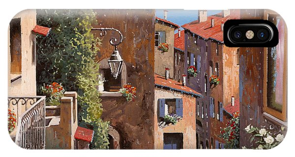 Provence iPhone Case - casette a Cagnes by Guido Borelli