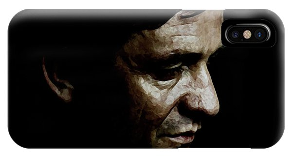 Johnny Cash iPhone Case - Cash by Laurence Adamson