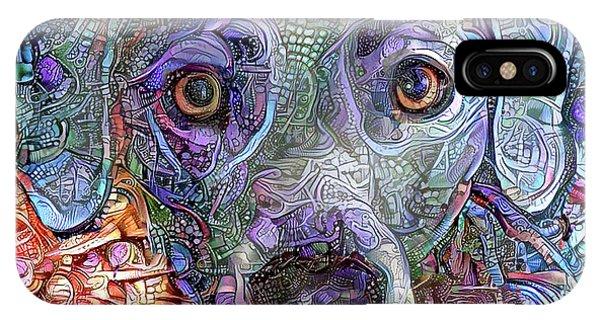 Cash The Blue Lacy Dog Closeup IPhone Case
