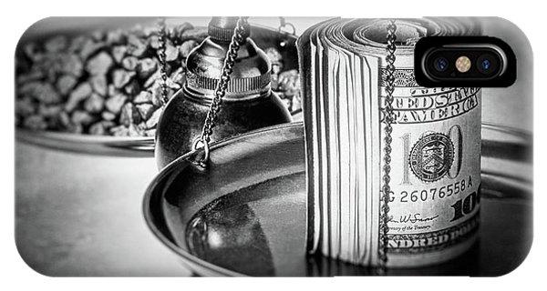 Tender iPhone Case - Cash Versus Gold by Tom Mc Nemar
