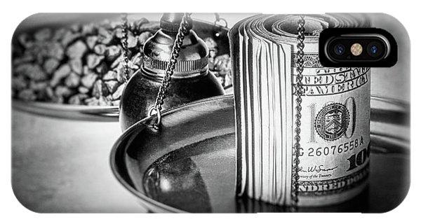 100 iPhone Case - Cash Versus Gold by Tom Mc Nemar