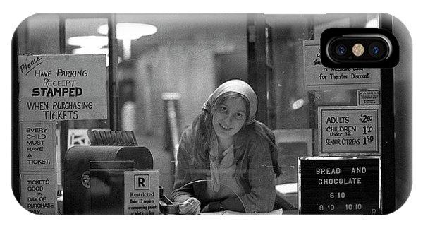 Cashier, Devon Theatre, 1979 IPhone Case