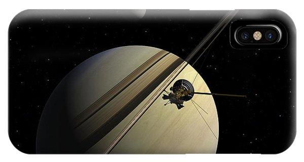 Cassini Passing Tethys IPhone Case